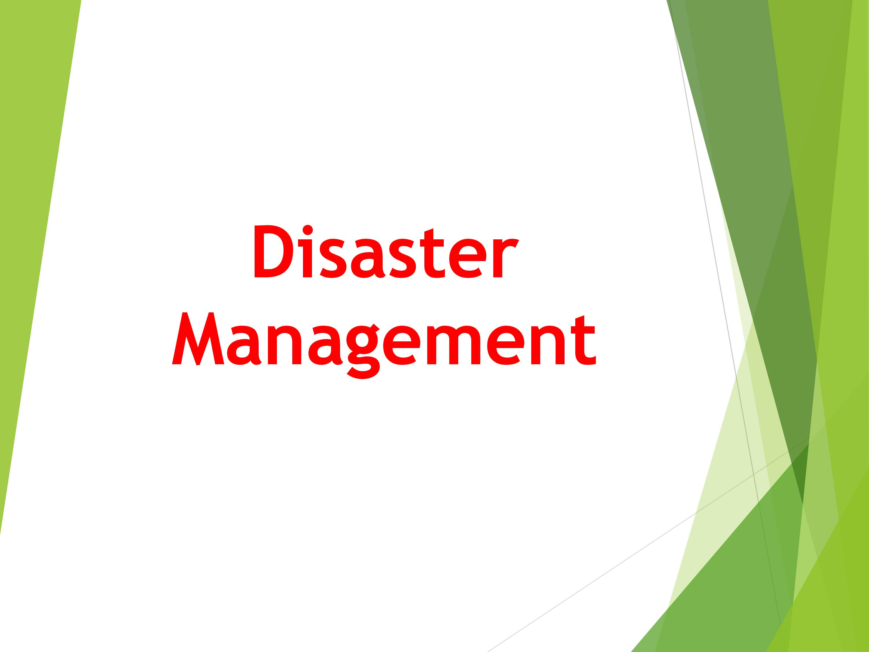 R18 III YEAR Disaster Management